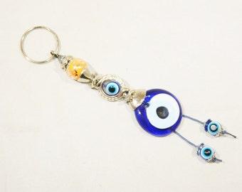 C-0538 - Lucky Evil Eye Keyring / Bag Hanger - Good Luck & Protection
