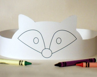 Fox Paper Crown COLOR YOUR OWN - Printable