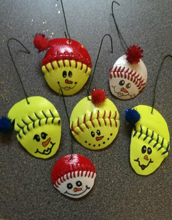 Items Similar To Softball Baseball Snowman With Hat