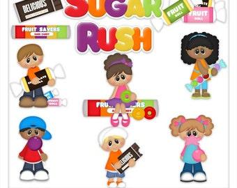 DIGITAL SCRAPBOOKING CLIPART - Sugar Rush