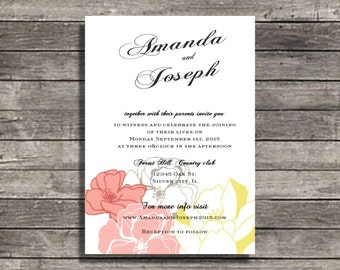 wedding invitations Love Garden wedding invite