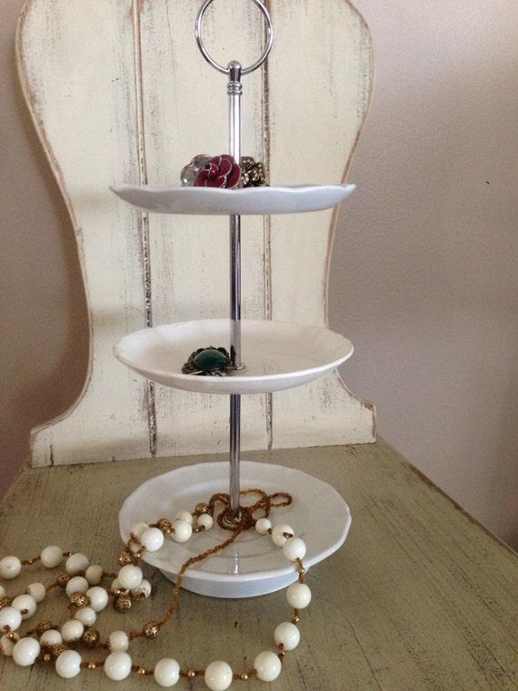 Jewelry stand vanity organizer make up stand bathroom for Bathroom jewelry holder