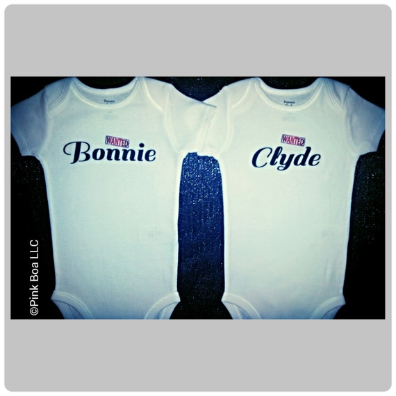 Items Similar To Bonnie Clyde Boy Girl Twin Outfits