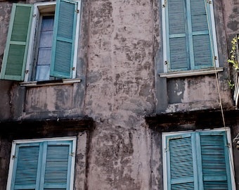New Orleans French Quarter Color Photograph, Jackson Square, Doorway, Architecture
