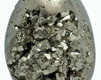 Iron Pyrite Egg Cluster - Fool's Gold - 466 grams 3 x 2 in Diameter  - EPYR001