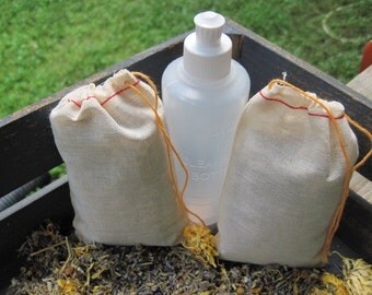 Organic Postpartum Bath Tea - Peri Bottle - Lavette Bottle - Birth Kit - Midwifery - Sitz Bath - Home Birth - Unassited Birth - UC