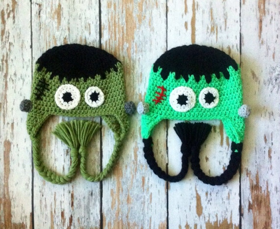 Frankenstein crochet hat 0-5T