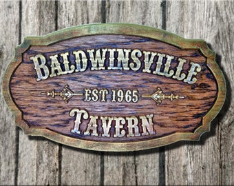 Tavern / Pub Sign - Customized Carved Tavern /pub /Bar Sign