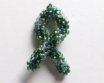 Liver Cancer Awareness Ribbon Ornament - ACS Relay for Life Donation