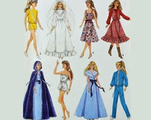 RETRO 60s Vintage Doll Clothes Pattern / Simplicity 9054 Barbie & Ken Clothes Pattern / Fashion Doll Clothes Pattern / Size 11 1/2 Inch Doll