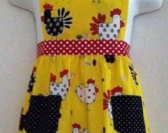 Chicken and Dot Apron