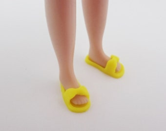 blythe shoes,3d printed, ribbon slipper  yellow
