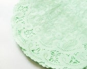 20 French Lace Paper Doilies - Mint