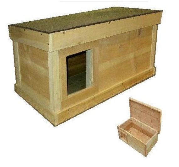 ARK Workshop Medium Outdoor Cat House: wood shelter home ferals strays ...