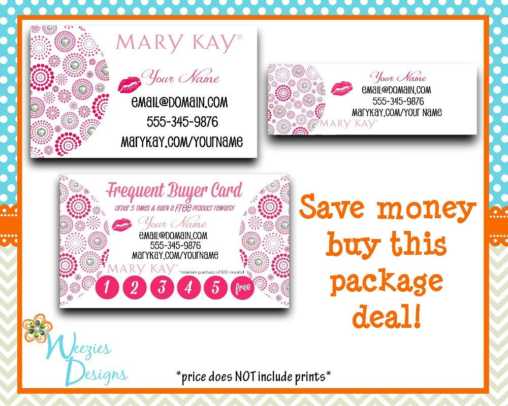 Mary Kay Business Package Business Card Direct By WeeziesDesigns