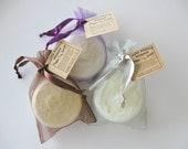 Whipped Sugar Scrub- Exfoliating Moisturizing Scrub- Foaming Sugar Scrub- Soap in a Jar- Vanilla Almond Scent- Travel size- 3 oz jar
