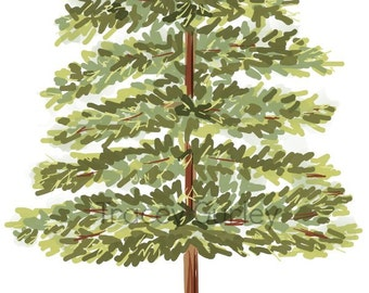 Evergreen Tree Original Art Download