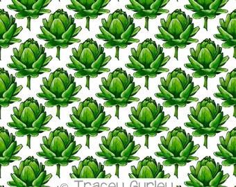 Artichoke Digital Paper - Original Art, artichoke clip art, artichoke pattern paper