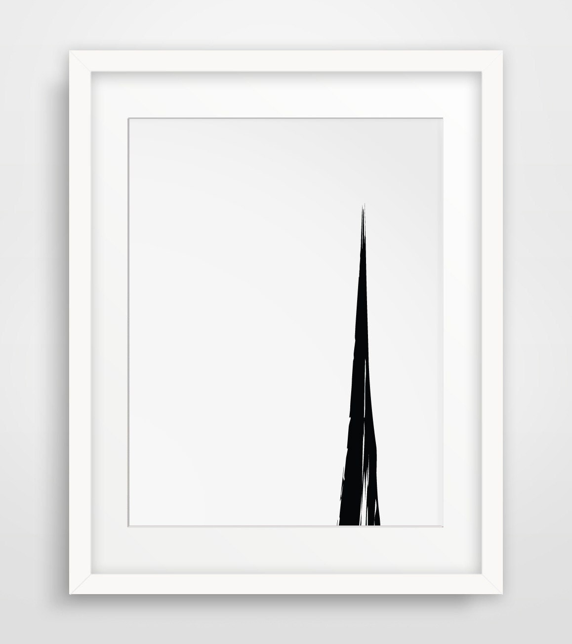 Simple wall art black white art minimalist art simple for Minimalist wall