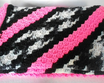 Ready To Ship - Hand Crafted Crocheted Blanket