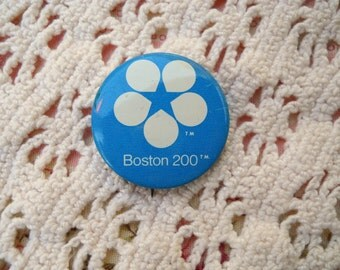 Vintage Boston 200 Button from the 1970's