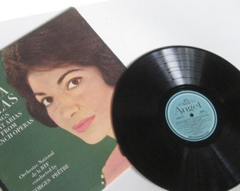 MARIA CALLAS Sings Arias from French Operas- Classic Vinyl Record Album Long Play 33 1/3 Monophonic-Sung in French