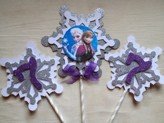 Etsy Frozen Cake Decorations : Frozen centerpieces or cake toppers by Fancymycupcake on Etsy