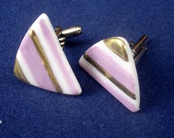 CUFFLINKS,cufflinks porcelain,white porcelain jewelry,cuff buttons,white-perple-gold jewelry,modern cufflinks,mens cufflinkswhite