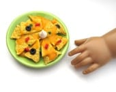 Nachos with Cheese, Olives, Peppers - Handmade Gourmet Doll Food For Your American Girl Doll