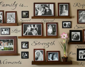 Family Wall Decal In These Moments Time Stood Still Vinyl - Wall decals entryway