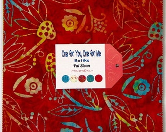 "CLEARANCE - One for You One For Me Batiks, 42 - 10"" squares"