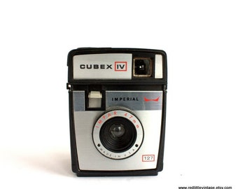 Vintage Cameras, Plastic Cameras - Retro Camera - Gift for Photographers - Imperial Cubex IV, Film Camera- Vintage Home Decor -  Retro Decor