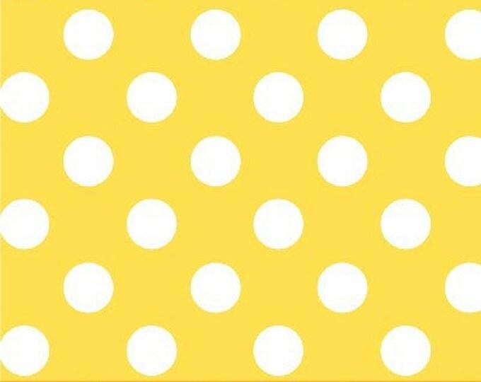 One Yard Windham Basics - Brights - Polka Dots in Yellow - Cotton Quilt Fabric - Windham Fabrics 29395-7 (W1883)