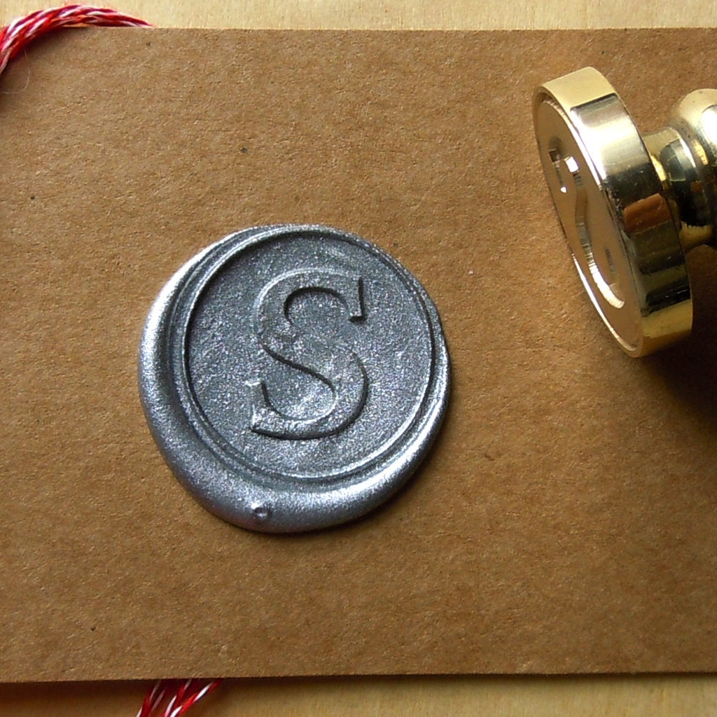 Letter wax seal stamp initials stamp personalized for Letter seal stamp