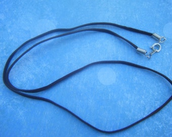 Dark-Brown, Suede-Cord Necklace