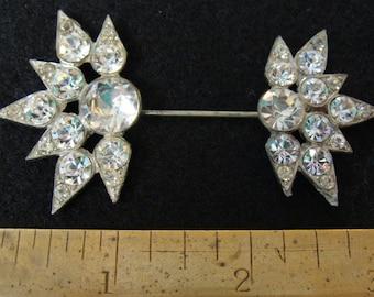 Sparkling rhinestone 1920s cloche hat pin
