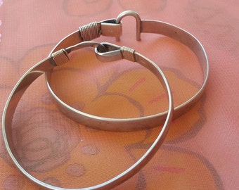 Solid sterling silver bangles, set of 2