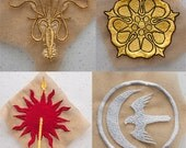 Game of Thrones - Martell, Greyjoy, Tyrell, Arryn House Sigil Applique Patches
