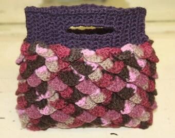 Boutique Crochet Purse - Plum Fantasy