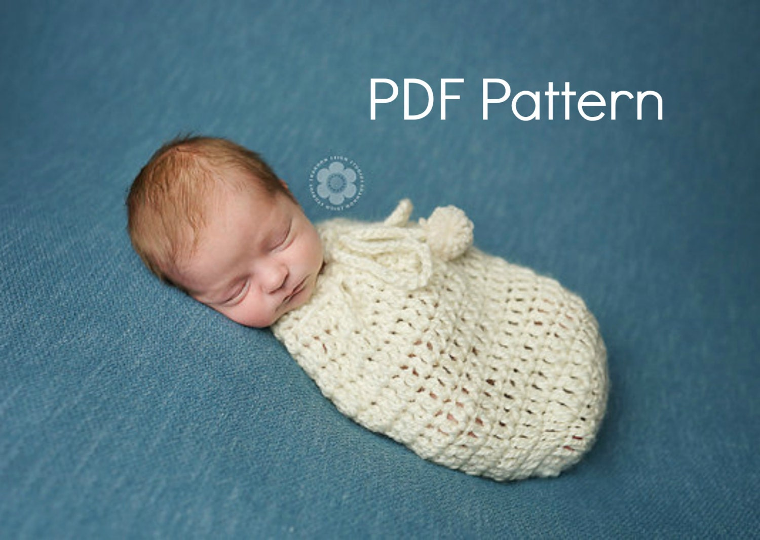 Crochet Pattern For Swaddle Blanket : PDF Crochet Pattern Newborn Swaddle Sack