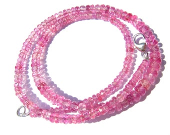 Gemstone Necklace Pink Sapphire / fantastic 76 carat birthstone september gift present birthday