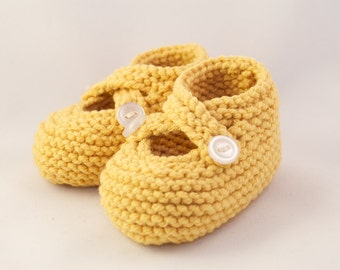 Sunshine Yellow Baby Booties
