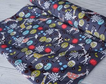 Baby Blanket - Crib or Toddler Blanket - Michael MIller Giraffe Garden Blanket  - Your Choice of Minky