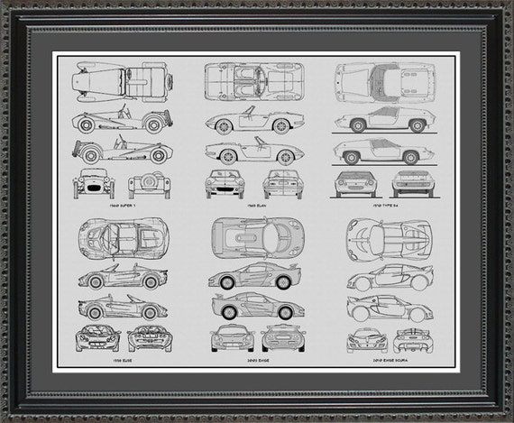 Lotus blueprint collection drawing art car auto gift blots2024 like this item malvernweather Choice Image