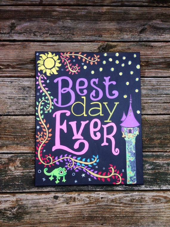 Best Day Ever 16x20 Hand Painted Canvas Not A
