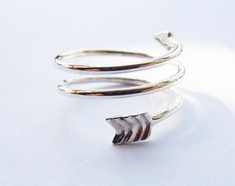 Sterling Silver Arrow Ring Handmade All Sizes (3 to 16)
