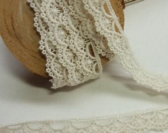 3 yards Vintage style Cotton Crochet Lace Trim 2002