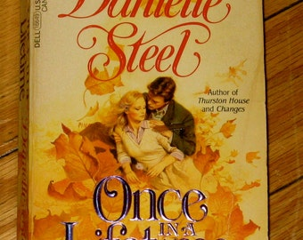 Vintage Book - Once In A Lifetime by: Danielle Steel, Mass Market Paperback, First Dell Printing 1982