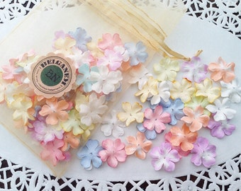 100 Mulberry Flowers Pastel colors