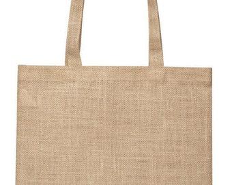 Jute Simple Shoulder Bag